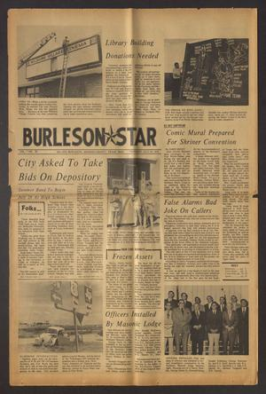 Primary view of Burleson Star (Burleson, Tex.), Vol. 7, No. 38, Ed. 1 Thursday, July 20, 1972