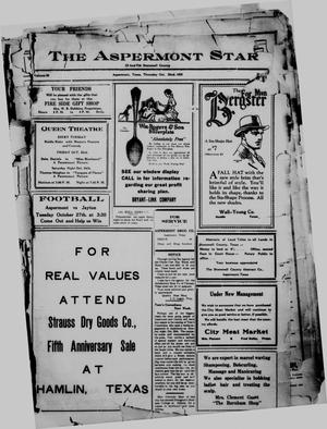 Primary view of object titled 'The Aspermont Star (Aspermont, Tex.), Vol. 28, No. 17, Ed. 1  Thursday, October 22, 1925'.