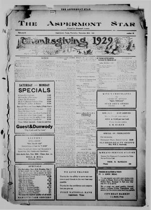 Primary view of object titled 'The Aspermont Star (Aspermont, Tex.), Vol. 32, No. 22, Ed. 1  Thursday, November 28, 1929'.