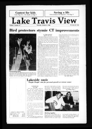 Primary view of Lake Travis View (Austin, Tex.), Vol. 3, No. 33, Ed. 1 Thursday, October 6, 1988
