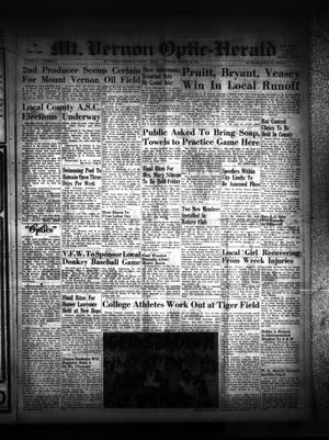Primary view of Mt. Vernon Optic-Herald (Mount Vernon, Tex.), Vol. 84, No. 50, Ed. 1 Thursday, August 28, 1958
