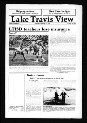 Primary view of object titled 'Lake Travis View (Austin, Tex.), Vol. 3, No. 30, Ed. 1 Thursday, September 15, 1988'.