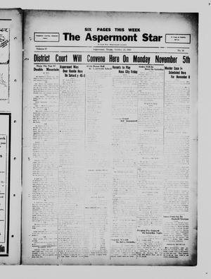 Primary view of object titled 'The Aspermont Star (Aspermont, Tex.), Vol. 37, No. 16, Ed. 1  Thursday, October 25, 1934'.