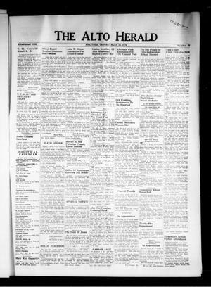 Primary view of The Alto Herald (Alto, Tex.), Vol. [82], No. 45, Ed. 1 Thursday, March 23, 1978
