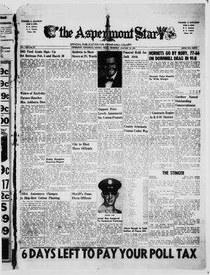 The Aspermont Star (Aspermont, Tex.), Vol. 64, No. 21, Ed. 1  Thursday, January 25, 1962