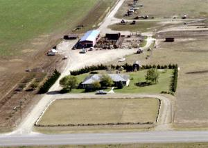 [Aerial Photo of James Voyles' Farm]