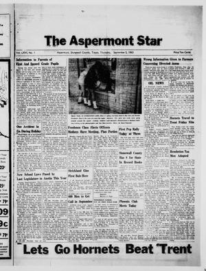 Primary view of object titled 'The Aspermont Star (Aspermont, Tex.), Vol. 66, No. 1, Ed. 1  Thursday, September 5, 1963'.
