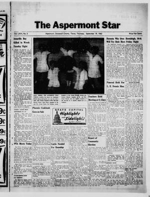 Primary view of object titled 'The Aspermont Star (Aspermont, Tex.), Vol. 66, No. 3, Ed. 1  Thursday, September 19, 1963'.