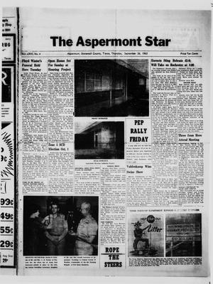 Primary view of object titled 'The Aspermont Star (Aspermont, Tex.), Vol. 66, No. 4, Ed. 1  Thursday, September 26, 1963'.