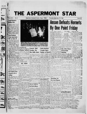 Primary view of object titled 'The Aspermont Star (Aspermont, Tex.), Vol. 67, No. 2, Ed. 1  Thursday, September 10, 1964'.