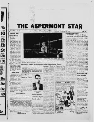 Primary view of object titled 'The Aspermont Star (Aspermont, Tex.), Vol. 67, No. 13, Ed. 1  Wednesday, November 25, 1964'.