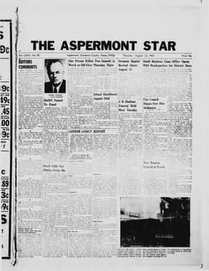 Primary view of object titled 'The Aspermont Star (Aspermont, Tex.), Vol. 67, No. 50, Ed. 1  Thursday, August 12, 1965'.