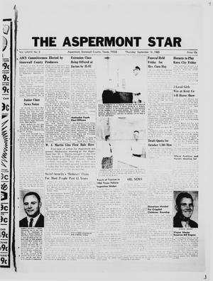 Primary view of object titled 'The Aspermont Star (Aspermont, Tex.), Vol. 68, No. 3, Ed. 1  Thursday, September 16, 1965'.