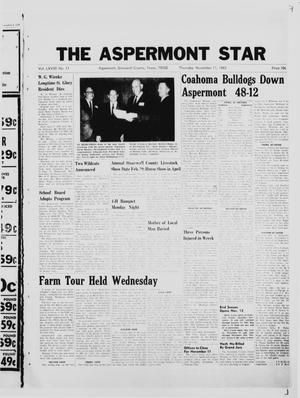 Primary view of object titled 'The Aspermont Star (Aspermont, Tex.), Vol. 68, No. 11, Ed. 1  Thursday, November 11, 1965'.