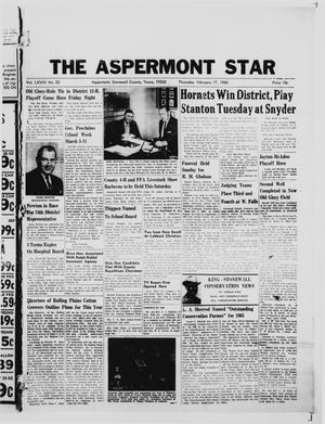 Primary view of object titled 'The Aspermont Star (Aspermont, Tex.), Vol. 68, No. 25, Ed. 1  Thursday, February 17, 1966'.