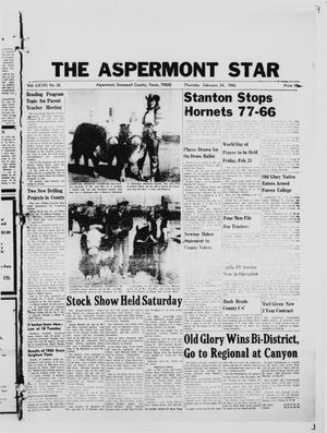 Primary view of object titled 'The Aspermont Star (Aspermont, Tex.), Vol. 68, No. 26, Ed. 1  Thursday, February 24, 1966'.