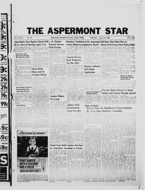 Primary view of object titled 'The Aspermont Star (Aspermont, Tex.), Vol. 68, No. 33, Ed. 1  Thursday, April 14, 1966'.