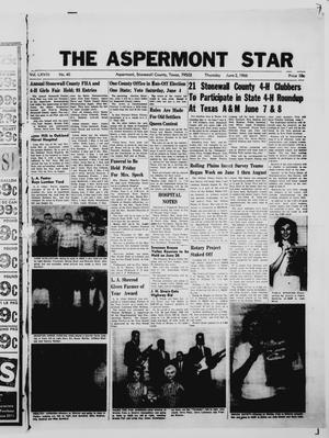 Primary view of object titled 'The Aspermont Star (Aspermont, Tex.), Vol. 68, No. 40, Ed. 1  Thursday, June 2, 1966'.