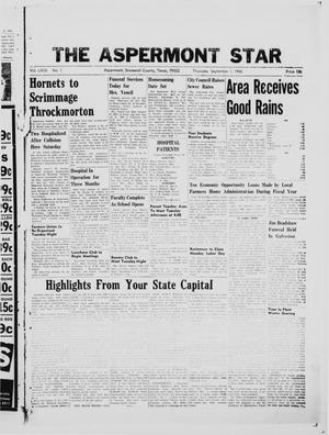 Primary view of object titled 'The Aspermont Star (Aspermont, Tex.), Vol. 69, No. 1, Ed. 1  Thursday, September 1, 1966'.