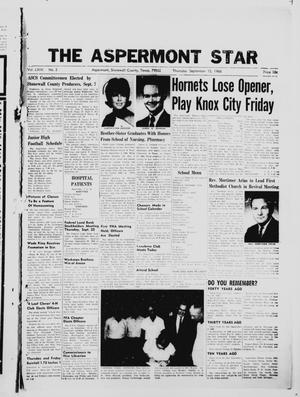 Primary view of object titled 'The Aspermont Star (Aspermont, Tex.), Vol. 69, No. 3, Ed. 1  Thursday, September 15, 1966'.