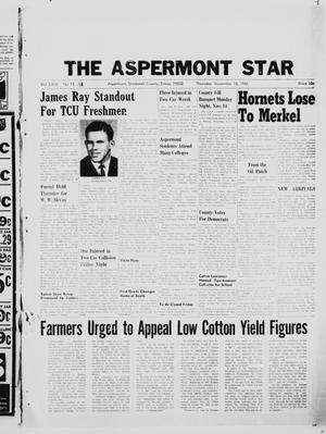 Primary view of object titled 'The Aspermont Star (Aspermont, Tex.), Vol. 69, No. 11, Ed. 1  Thursday, November 10, 1966'.