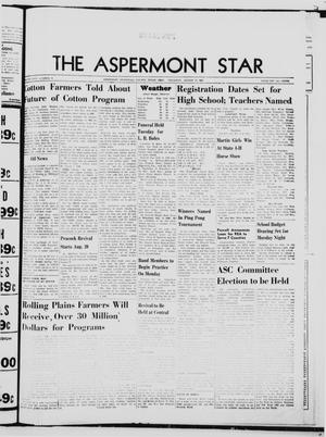 Primary view of object titled 'The Aspermont Star (Aspermont, Tex.), Vol. 69, No. 51, Ed. 1  Thursday, August 17, 1967'.