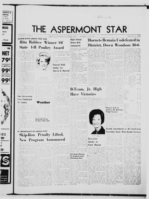 Primary view of object titled 'The Aspermont Star (Aspermont, Tex.), Vol. 70, No. 8, Ed. 1  Thursday, October 19, 1967'.