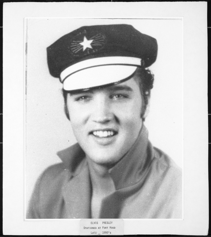First side of: Elvis Presley photograph, a photograph available in the The Portal to Texas History