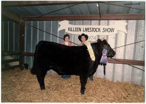 Primary view of object titled '[Killeen Live Stock Show, Blue Ribbon Winner]'.