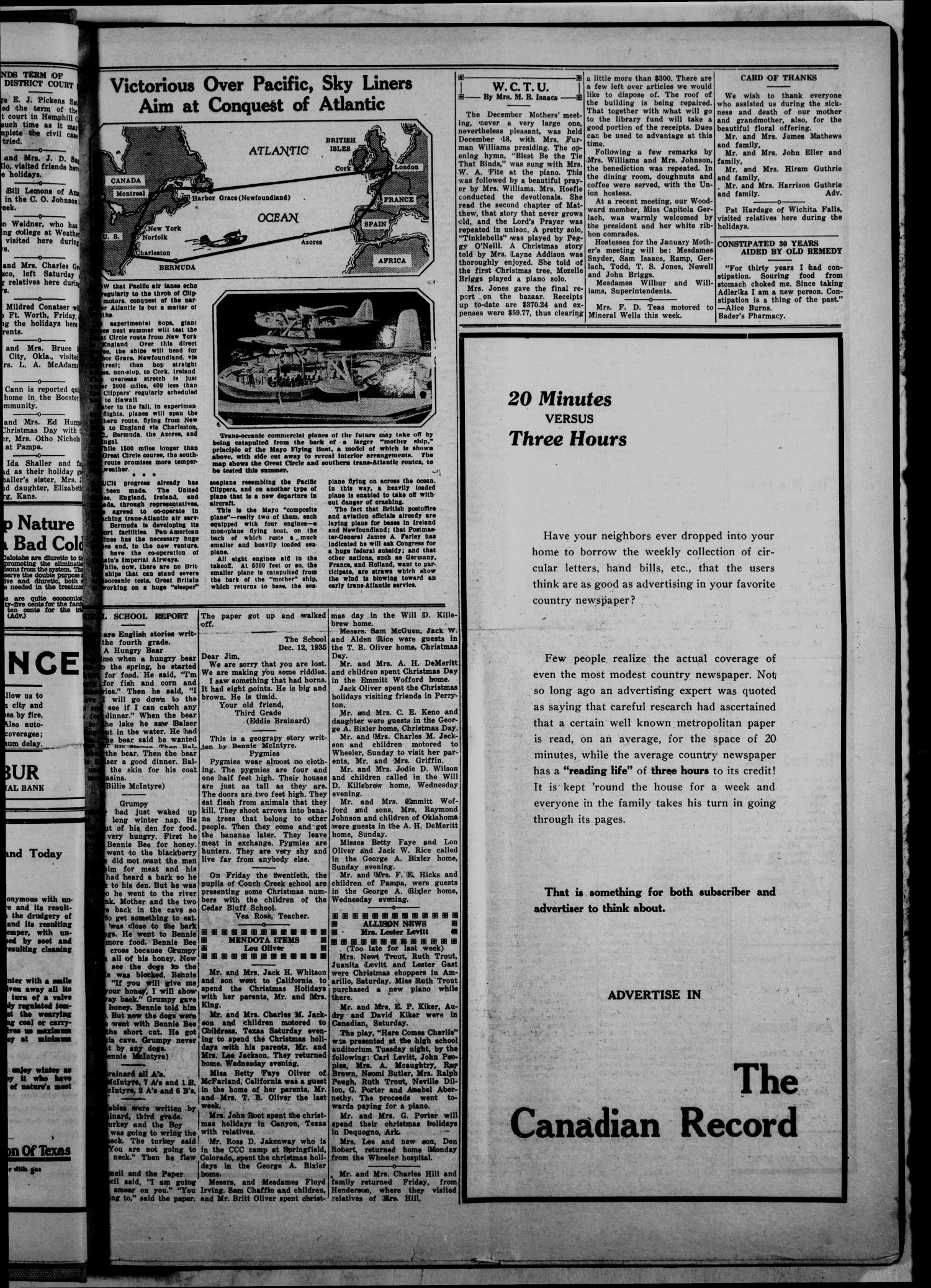 The Canadian Record (Canadian, Tex.), Vol. 46, No. 3, Ed. 1  Thursday, January 2, 1936                                                                                                      [Sequence #]: 5 of 6