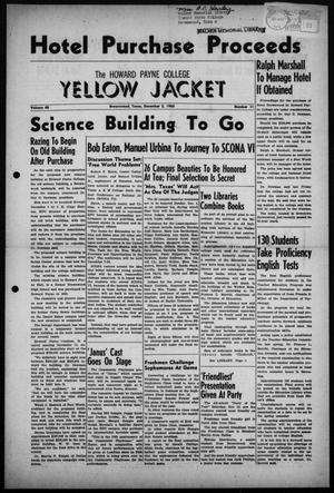 Primary view of object titled 'The Howard Payne College Yellow Jacket (Brownwood, Tex.), Vol. 48, No. 11, Ed. 1  Friday, December 2, 1960'.