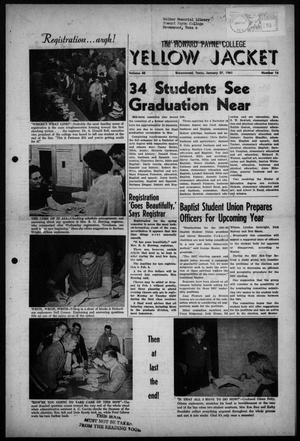 The Howard Payne College Yellow Jacket (Brownwood, Tex.), Vol. 48, No. 16, Ed. 1  Friday, January 27, 1961