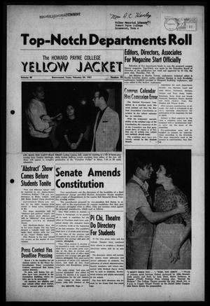 Primary view of object titled 'The Howard Payne College Yellow Jacket (Brownwood, Tex.), Vol. 48, No. 20, Ed. 1  Friday, February 24, 1961'.