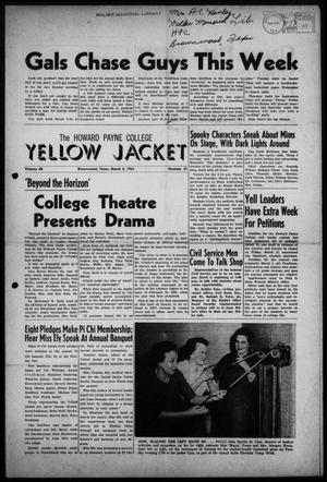 Primary view of object titled 'The Howard Payne College Yellow Jacket (Brownwood, Tex.), Vol. 48, No. 21, Ed. 1  Friday, March 3, 1961'.