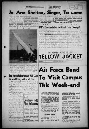Primary view of object titled 'The Howard Payne College Yellow Jacket (Brownwood, Tex.), Vol. 48, No. 26, Ed. 1  Friday, April 14, 1961'.