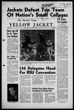 Primary view of object titled 'The Howard Payne Yellow Jacket (Brownwood, Tex.), Vol. 49, No. 5, Ed. 1  Friday, October 20, 1961'.