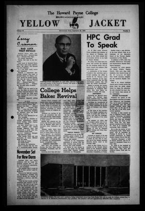 Primary view of object titled 'The Howard Payne College Yellow Jacket (Brownwood, Tex.), Vol. 51, No. 2, Ed. 1  Friday, September 20, 1963'.