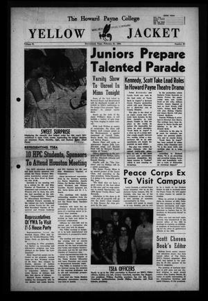 The Howard Payne College Yellow Jacket (Brownwood, Tex.), Vol. 51, No. 20, Ed. 1  Friday, February 21, 1964