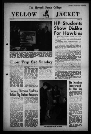 Primary view of object titled 'The Howard Payne College Yellow Jacket (Brownwood, Tex.), Vol. 51, No. 22, Ed. 1  Friday, March 6, 1964'.