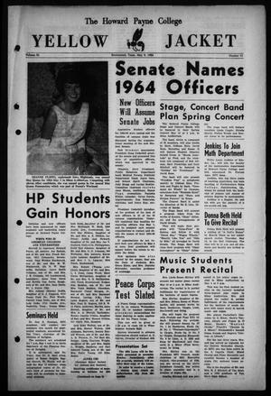Primary view of object titled 'The Howard Payne College Yellow Jacket (Brownwood, Tex.), Vol. 51, No. 31, Ed. 1  Friday, May 8, 1964'.