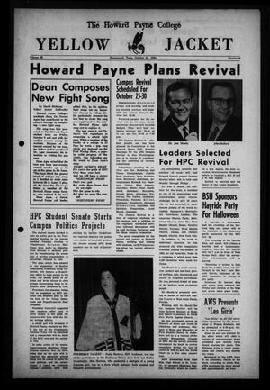 Primary view of object titled 'The Howard Payne College Yellow Jacket (Brownwood, Tex.), Vol. 52, No. 6, Ed. 1  Friday, October 23, 1964'.