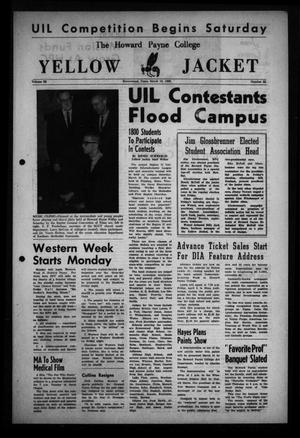 The Howard Payne College Yellow Jacket (Brownwood, Tex.), Vol. 52, No. 22, Ed. 1  Friday, March 19, 1965