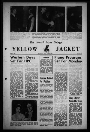 Primary view of object titled 'The Howard Payne College Yellow Jacket (Brownwood, Tex.), Vol. 52, No. 24, Ed. 1  Friday, April 2, 1965'.