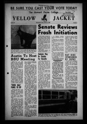 Primary view of object titled 'The Howard Payne College Yellow Jacket (Brownwood, Tex.), Vol. 53, No. 4, Ed. 1  Friday, October 8, 1965'.
