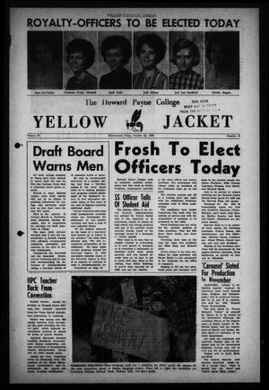 Primary view of object titled 'The Howard Payne College Yellow Jacket (Brownwood, Tex.), Vol. 53, No. 6, Ed. 1  Friday, October 22, 1965'.