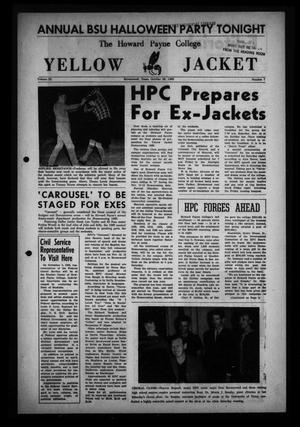 Primary view of object titled 'The Howard Payne College Yellow Jacket (Brownwood, Tex.), Vol. 53, No. 7, Ed. 1  Friday, October 29, 1965'.