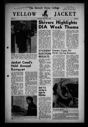 Primary view of object titled 'The Howard Payne College Yellow Jacket (Brownwood, Tex.), Vol. 53, No. 24, Ed. 1  Friday, April 1, 1966'.