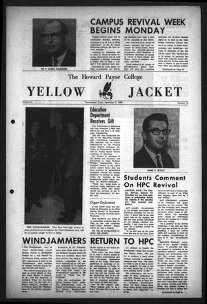 Primary view of object titled 'The Howard Payne College Yellow Jacket (Brownwood, Tex.), Vol. 54, No. 10, Ed. 1  Friday, December 2, 1966'.