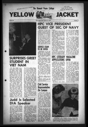 Primary view of object titled 'The Howard Payne College Yellow Jacket (Brownwood, Tex.), Vol. 54, No. 17, Ed. 1  Friday, January 27, 1967'.