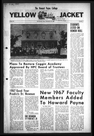 Primary view of object titled 'The Howard Payne College Yellow Jacket (Brownwood, Tex.), Vol. 55, No. 1, Ed. 1  Friday, September 22, 1967'.